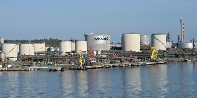 Oljehamnen i Nynäshamn.  Fredrik Sandberg/TT / TT NYHETSBYRÅN