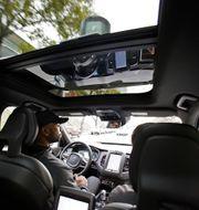 Arkivbild på självkörande Uber. Eric Risberg / TT NYHETSBYRÅN