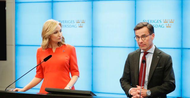 Ulf Kristersson (M) och Ebba Busch (KD) Christine Olsson/TT / TT NYHETSBYRÅN