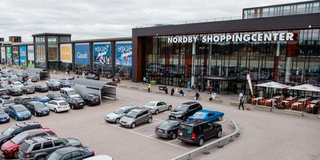 Arkivbild: Nordby shoppingcenter vid den norska gränsen. Braastad, Audun / TT NYHETSBYRÅN