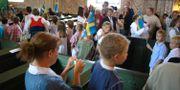 Skolavslutning i Litslena kyrka utanför Enköping på onsdagen 2008. Genrebild MONS BRUNIUS / TT NYHETSBYRÅN
