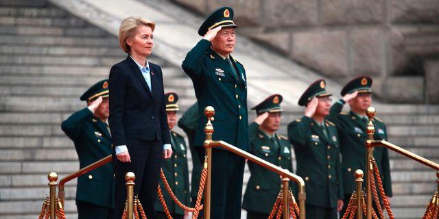EU-kommissionens nuvarande ordförande Ursula von der Leyen under ett besök i Peking 2018. How Hwee Young / TT NYHETSBYRÅN