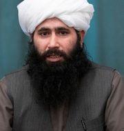 Talibanernas talesperson Mohammad Naeem gjorde uttalandet.  Alexander Zemlianichenko / TT NYHETSBYRÅN