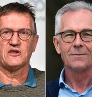 Anders Tegnell, Jan Albert och Tom Britton. TT