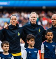 Sveriges lag under VM i Frankrike 2019. SIMON HASTEGÅRD / BILDBYRÅN