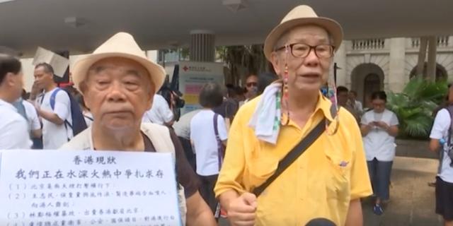 """""""Big Wong"""" och """"Little Wong"""" deltog i protesterna."""