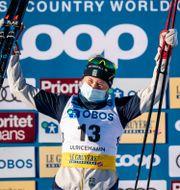 Maja Dahlqvist på pallen i Ulricehamn CARL SANDIN / BILDBYRÅN