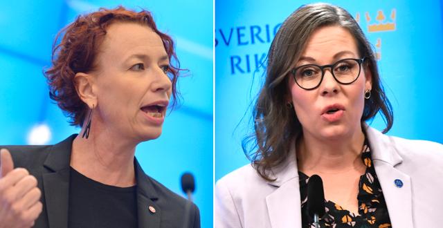 Christina Höj Larsen (t v), Maria Malmer Stenergard (t h).  TT