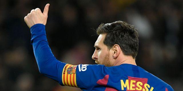 Leo Messi i FC Barcelona. LLUIS GENE / TT NYHETSBYRÅN