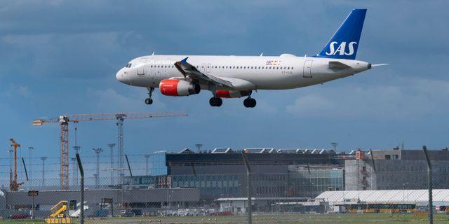 SAS-flyg ovanför Kastrups flygplats. Arkivbild. Johan Nilsson/TT / TT NYHETSBYRÅN