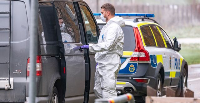 Polisens tekniker. Johan Nilsson/TT / TT NYHETSBYRÅN