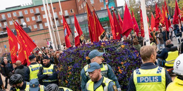 Socialdemokraternas första maj-tåg Johan Nilsson/TT / TT NYHETSBYRÅN