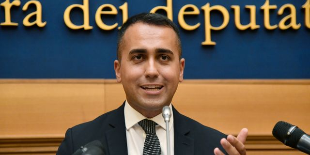 Femstjärnerörelsens ledare Luigi Di Maio. FILIPPO MONTEFORTE / AFP