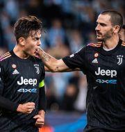 Juventus Paulo Dybala och Leonardo Bunucci. PETTER ARVIDSON / BILDBYRÅN