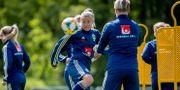 Sverige tränar inför mästerskapet. Adam Ihse/TT / TT NYHETSBYRÅN