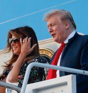 Donald och Melania Trump. Pablo Martinez Monsivais / TT NYHETSBYRÅN/ NTB Scanpix