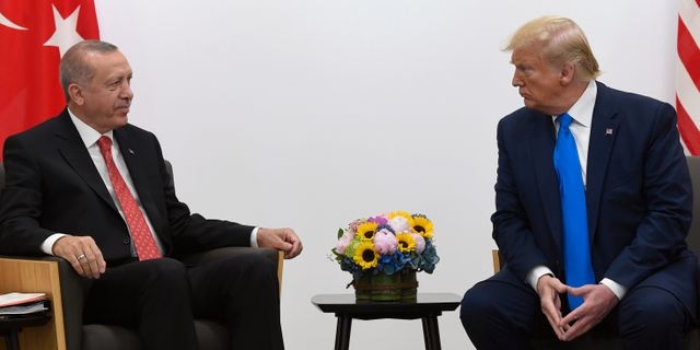 Recep Tayyip Erdogan och Donald Trump. Arkivbild Susan Walsh / TT NYHETSBYRÅN