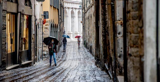 Italienska Bergamo. Arkivbild.  Adam Ihse/TT / TT NYHETSBYRÅN