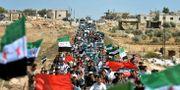 Demonstration mot regeringens offensiv mot Idlib.  Ugur Can / TT NYHETSBYRÅN/ NTB Scanpix