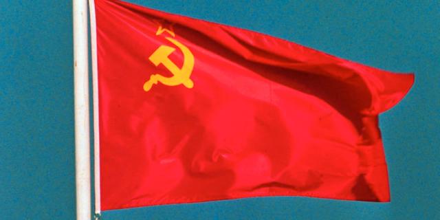 Sovjetunionens flagga. TT