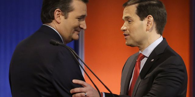 Ted Cruz och Marco Rubio. Chris Carlson / TT / NTB Scanpix