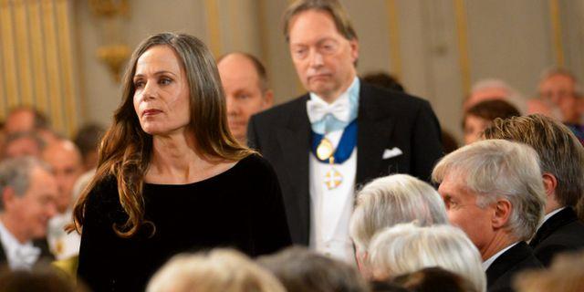 Horace Engdahl och Sara Danius 2013. JONAS EKSTRÖMER / TT / TT NYHETSBYRÅN