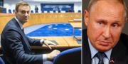 Aleksej Navalnyj och Vladmir Putin. TT