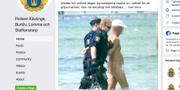 Skärmdump från polisens Facebook-sida Skärmdump från Facebook