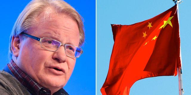 Peter Hultqvist (S) vill att staten får inflytande när exempelvis Kina vill etablera verksamhet i Sverige. TT