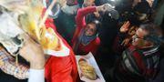 Våldsamma protester i samband med kvinnornas besök i templet.  ADNAN ABIDI / TT NYHETSBYRÅN