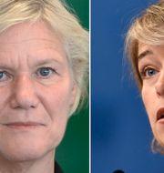 Ann-Marie Begler och Annika Strandhäll. TT