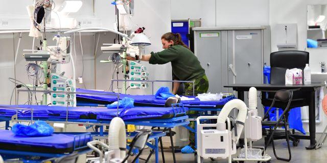 Nya intensivvårdsplatser i Älvsjö. Jonas Ekströmer/TT / TT NYHETSBYRÅN