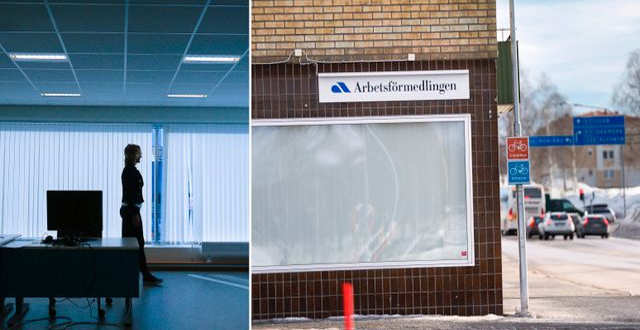Arbetsförmedlingen i Boden var ett av kontoren som föreslås läggas ner. Bilder från mars. TT