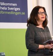 Arbetsförmedlingens generaldirektör Maria Mindhammar. Fredrik Sandberg/TT / TT NYHETSBYRÅN