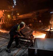 Arbete inne i Masugn 4 på SSAB i Oxelösund, arkivfoto. Anders Wiklund/TT / TT NYHETSBYRÅN