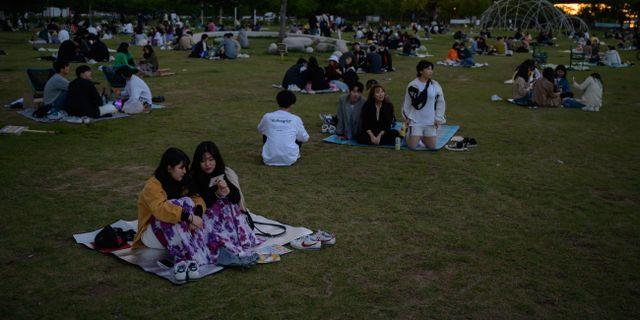 Park i Seoul, 20 maj. ED JONES / TT NYHETSBYRÅN