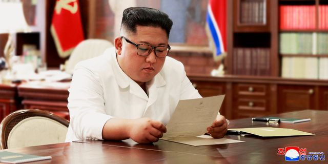 Kim ska noga överväga innehållet i brevet. í©ëNíêM / TT NYHETSBYRÅN/ NTB Scanpix