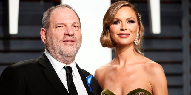 Harvey Weinstein tillsammans med Georgina Chapman.  Danny Moloshok / TT NYHETSBYRÅN
