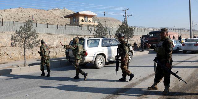 Afghanska soldater/arkivbild.  Rahmat Gul / TT NYHETSBYRÅN