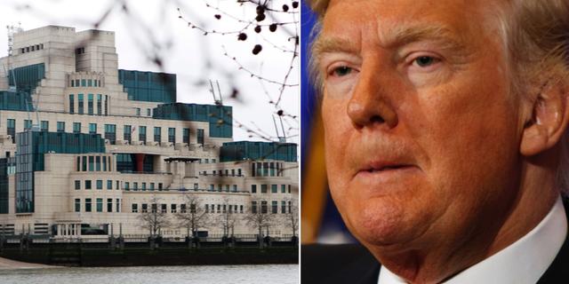 MI6 i London, Donald Trump vid onsdagens presskonferens. TT