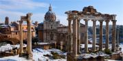 Rom är som vackrast i vinterskrud, tycker The Telegraph. Thinkstock.