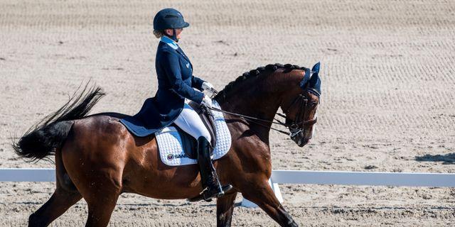 Charlotte Haid Bondergaard, på Dixiland  i Grand Prix-klassen i Falsterbo 2018. MATHILDA AHLBERG / BILDBYRÅN