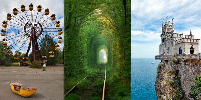 Tjernobyl, Kärlekstunneln och slottet Svalboet på Krimhalvön är tre populära attraktioner i Ukraina. Krimhalvön bör dock inte besökas just nu, enligt UD:s reserekommendationer. Wikicommons
