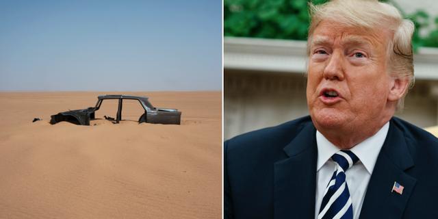 Sahara öknen/USA:s president Donald Trump TT