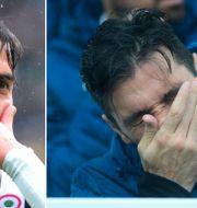 Paulo Dybala gör sin patenterade målgest/Gianluigi Buffon i tårar på bänken före matchen när Davide Astori hyllades. TT