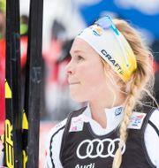 Skidåkaren Jennie Öberg som fick dubbelsidig lunginflammation och behövde sjukhusvård. Terje Pedersen / TT NYHETSBYRÅN