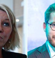 Monica Mæland och Sveinung Rotevatn. TT