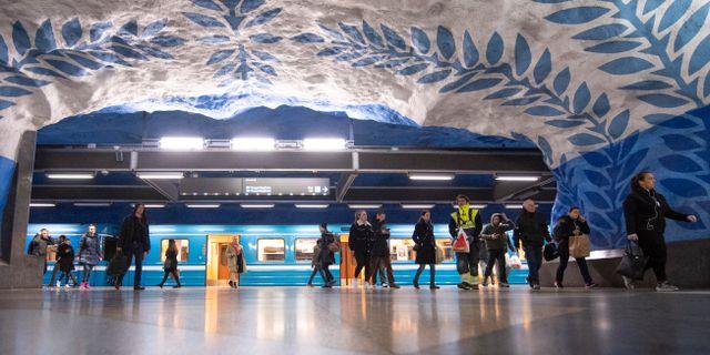 Tunnelbanan i Stockholm. ALI LORESTANI / TT / TT NYHETSBYRÅN