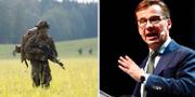 Soldat under försvarsövningen Aurora 2017/Ulf Kristersson (M) TT