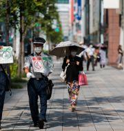 Illustrationsbild, shoppingdistriktet Ginza i Tokyo.  Hiro Komae / TT NYHETSBYRÅN